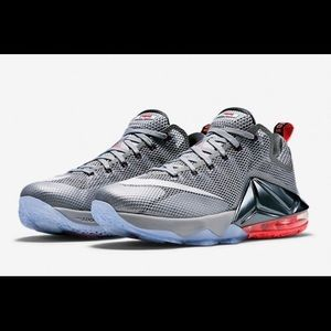 2a3ea604905 Nike Shoes - Nike Lebron 12 Low (Wolf Grey White-Dark Grey